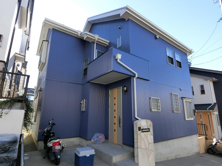 町田市高ヶ坂 m様邸 外壁ガルバ貼り屋根塗装工事 事例 No134町田の